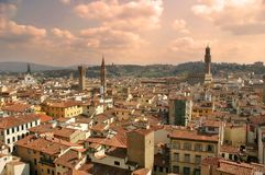 Tarde Florencia. imagenes de archivo