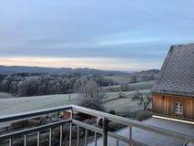 Tarde helada en Suiza sajona foto de archivo libre de regalías