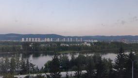 Tarde hermosa de Krasnoyarsk fotos de archivo
