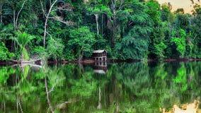 Tarde hermosa en un lago Imagenes de archivo