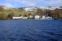 Tarde inglesa do inverno do distrito do lago Fotografia de Stock Royalty Free