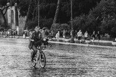 Tarde Lazio da chuva de Roma, Itália fotografia de stock royalty free