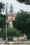 Tarde Lazio da chuva de Roma, Itália imagens de stock royalty free