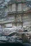 Tarde Lazio, Italia de la lluvia de Roma fotos de archivo