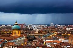 Tarde lluviosa en Toulouse Fotografía de archivo libre de regalías