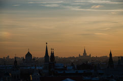 Tarde Moscú fotografía de archivo
