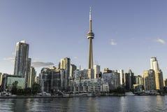 Tarde ocidental da skyline de Toronto Fotos de Stock Royalty Free