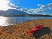 Tarde que kayaking Fotos de Stock