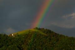 Tarde real del arco iris Fotografía de archivo libre de regalías