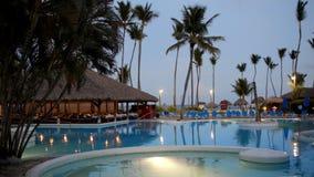 Tarde reservada en centro turístico tropical metrajes