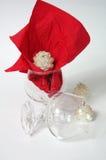 Tarde romántica Gafas Vela Fondo blanco Fotografía de archivo