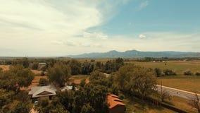 Tarde soleada tirada en Boulder Colorado Imagenes de archivo