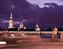 Tarde St Petersburg, Rusia Fotos de archivo