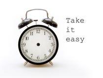 Tarde su tiempo en el despertador Imagenes de archivo
