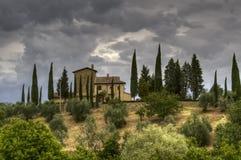 Tarde tempestuosa en Toscana Fotografía de archivo libre de regalías