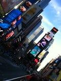 tarde Times Square Fotografía de archivo libre de regalías