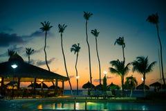 Tarde tropical del centro turístico Foto de archivo libre de regalías