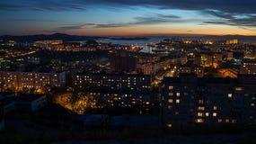 Tarde Vladivostok Imagen de archivo libre de regalías