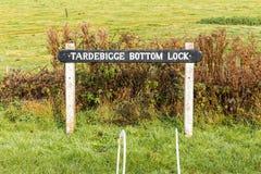 Tardebigge dna kędziorka znak, Worcestershire, Anglia Obraz Royalty Free