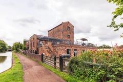 Tardebigge-Maschinen-Haus-, Worcester- und Birmingham-Kanal Lizenzfreie Stockbilder