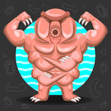 Tardigrade Water Bear illustration Royalty Free Stock Images
