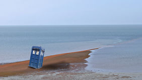 Tardis arrives on earth royalty free stock images