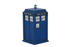 The Tardis from Dr Who Stock Photo