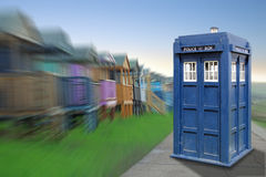 Tardis earth arrival stock images