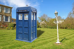 Tardis garden furniture Stock Photos