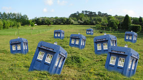 Tardis graveyard Stock Photo