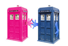 Tardis love at first sight Stock Images