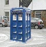 Tardis zima Zdjęcia Royalty Free