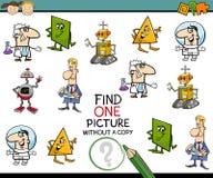 Tarea preescolar de la educación para los niños Imágenes de archivo libres de regalías
