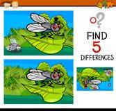 Tarefa das diferenças para a criança ilustração royalty free