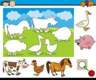Tarefa do jardim de infância para crianças em idade pré-escolar Imagem de Stock Royalty Free