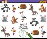 Tarefa dos desenhos animados para crianças Foto de Stock