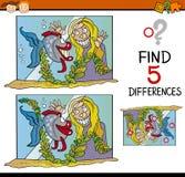 Tarefa educacional das diferenças ilustração royalty free