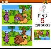 Tarefa educacional das diferenças ilustração do vetor