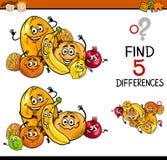 Tarefa educacional das diferenças ilustração stock