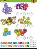 Tarefa matemática para crianças Fotos de Stock Royalty Free