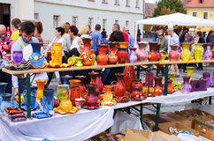 Targ Ceramica在锡比乌,罗马尼亚 免版税库存照片