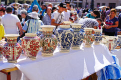Targ Ceramica à Sibiu, Roumanie Image stock