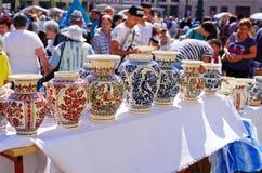 Targ Ceramica i Sibiu, Rumänien Fotografering för Bildbyråer