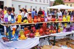 Targ Ceramica in Sibiu, Roemenië Royalty-vrije Stock Foto