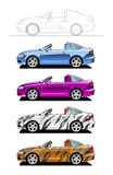 Targa. Part of my collections  of Car body style. Simple gradients only - no gradient mesh Stock Image