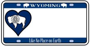 Targa di immatricolazione della bandiera dello stato del Wyoming Immagine Stock Libera da Diritti