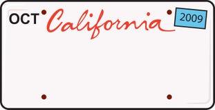 Targa di immatricolazione della California Immagine Stock