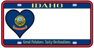 Targa di immatricolazione dello stato dell'Idaho Fotografia Stock Libera da Diritti