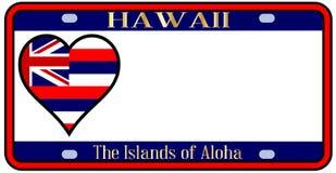Targa di immatricolazione dello stato delle Hawai Fotografia Stock