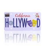 Targa di immatricolazione di Hollywood Immagine Stock